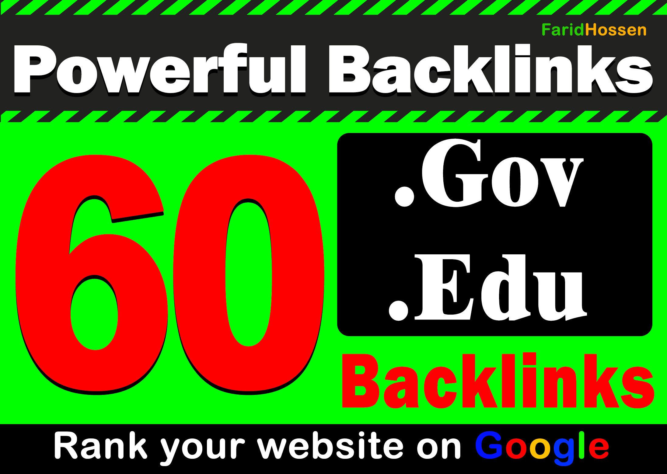 Manual 60 EDU GOV Backlinks for Rank Your Website on Google