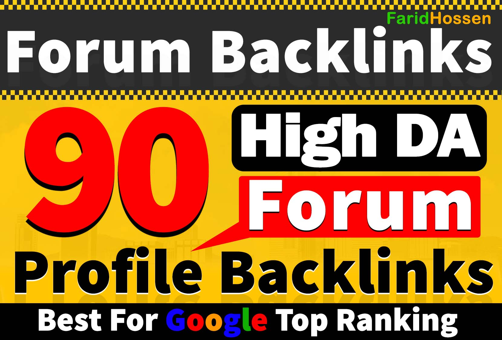 Faster Ranking 90 Forum Profile Backlinks From High Quality Trusted Forums