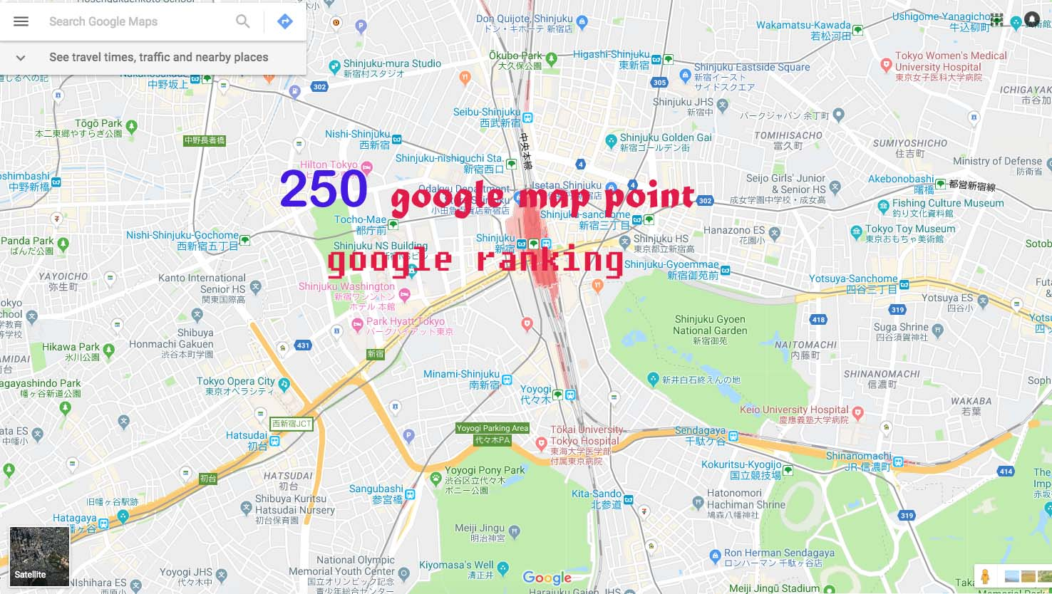 create 250 google map point listing with local SEO