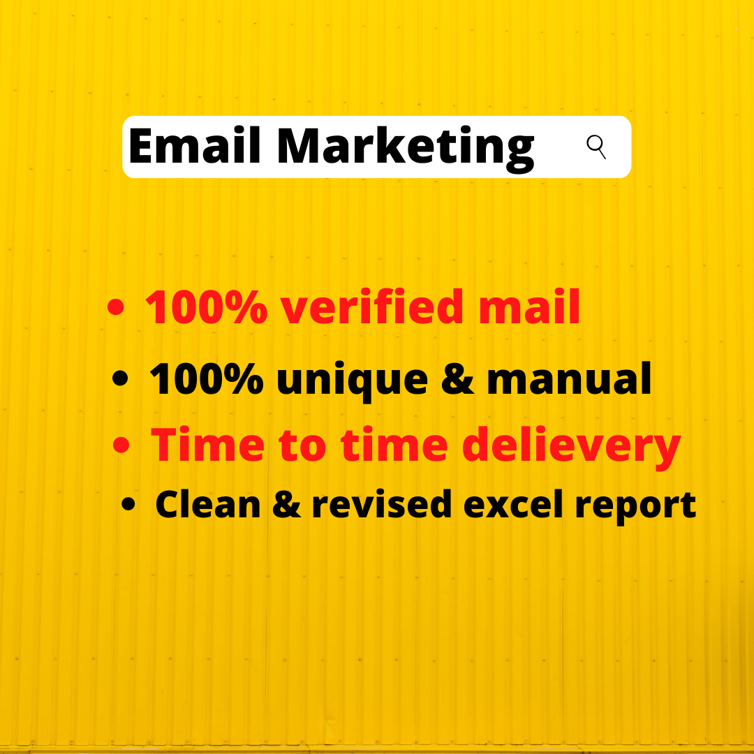 I will collect your 2K niche targeted email list for business