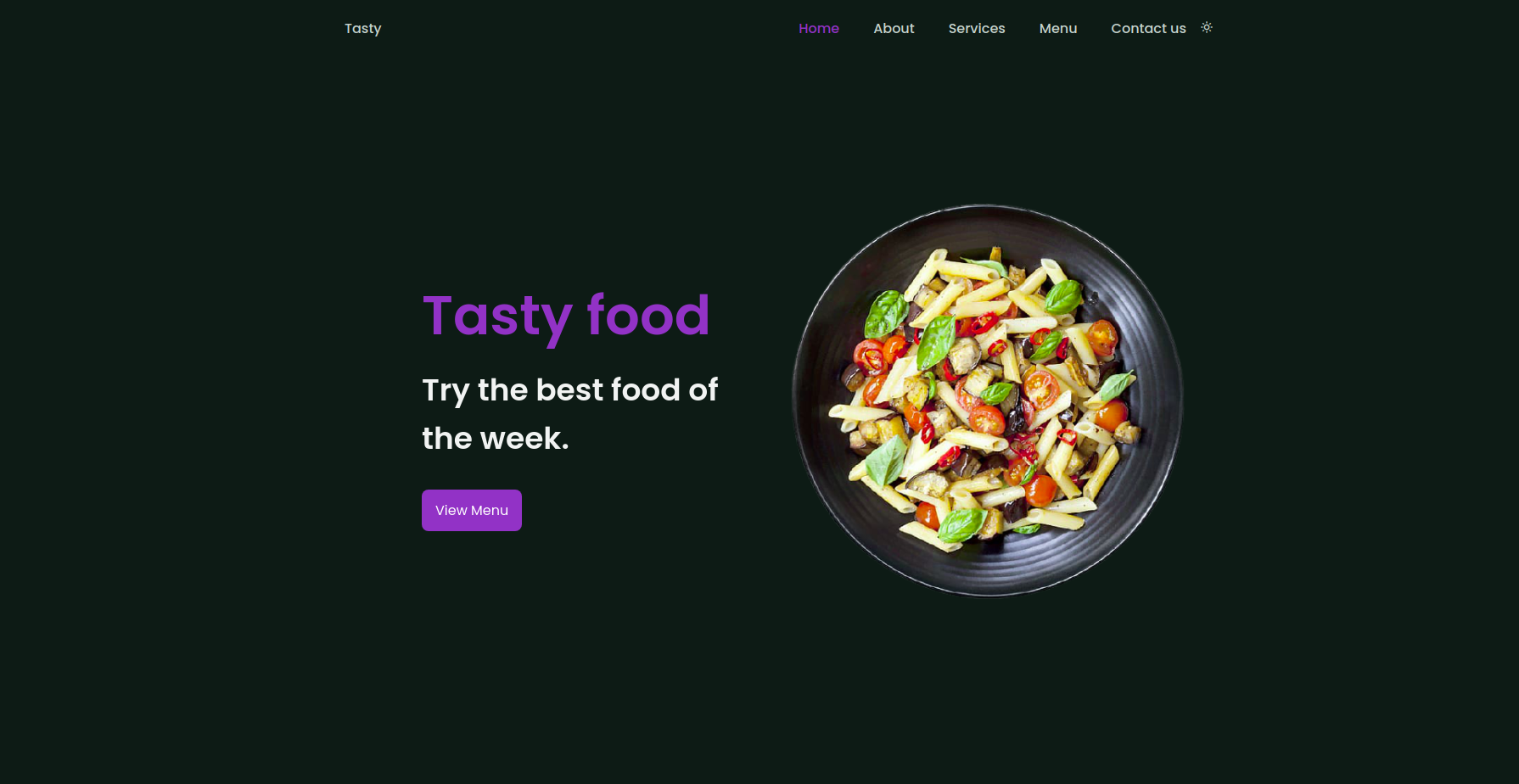Responsive Template - Restaurant Website Uniqe