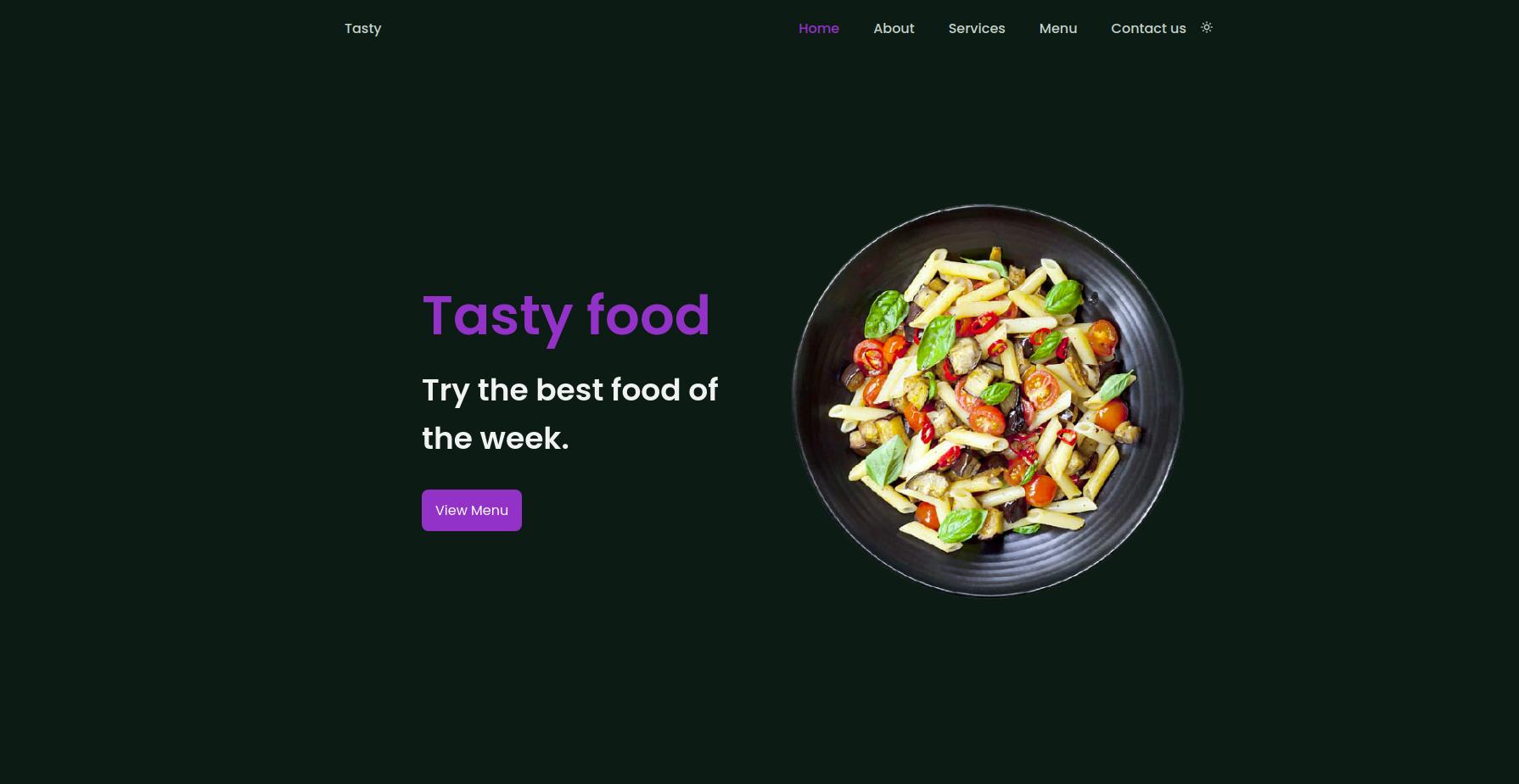 Responsive Template - Restaurant Website Uniqe