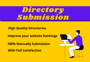I will do 100 web directories submissions manually
