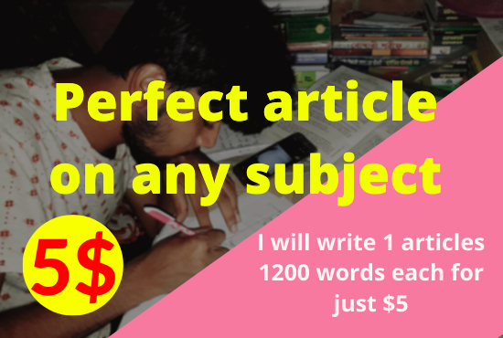 I will write 1200 word SEO articles in 24 hours