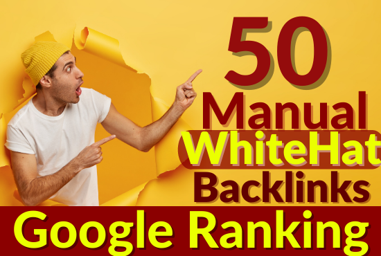 50 Manual 90 DA Pr9 Whitehat Authority Backlinks For Google Ranking