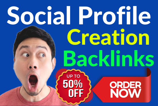 60 Dofollow Social Profile Creation Backlinks