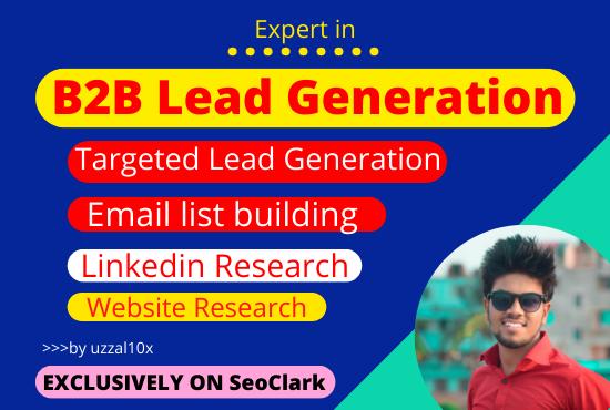 I will do B2B top target lead generation