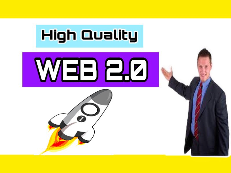 I will Build up 25 WEB 2.0 backlinks manually