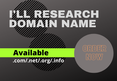 I will Research Domain Name for you