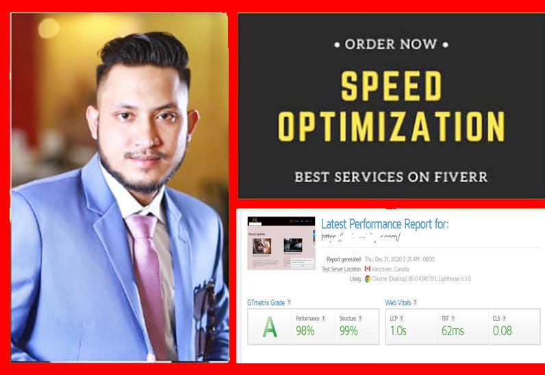 I will do WordPress website speed optimization increase Gtmetrix page speed