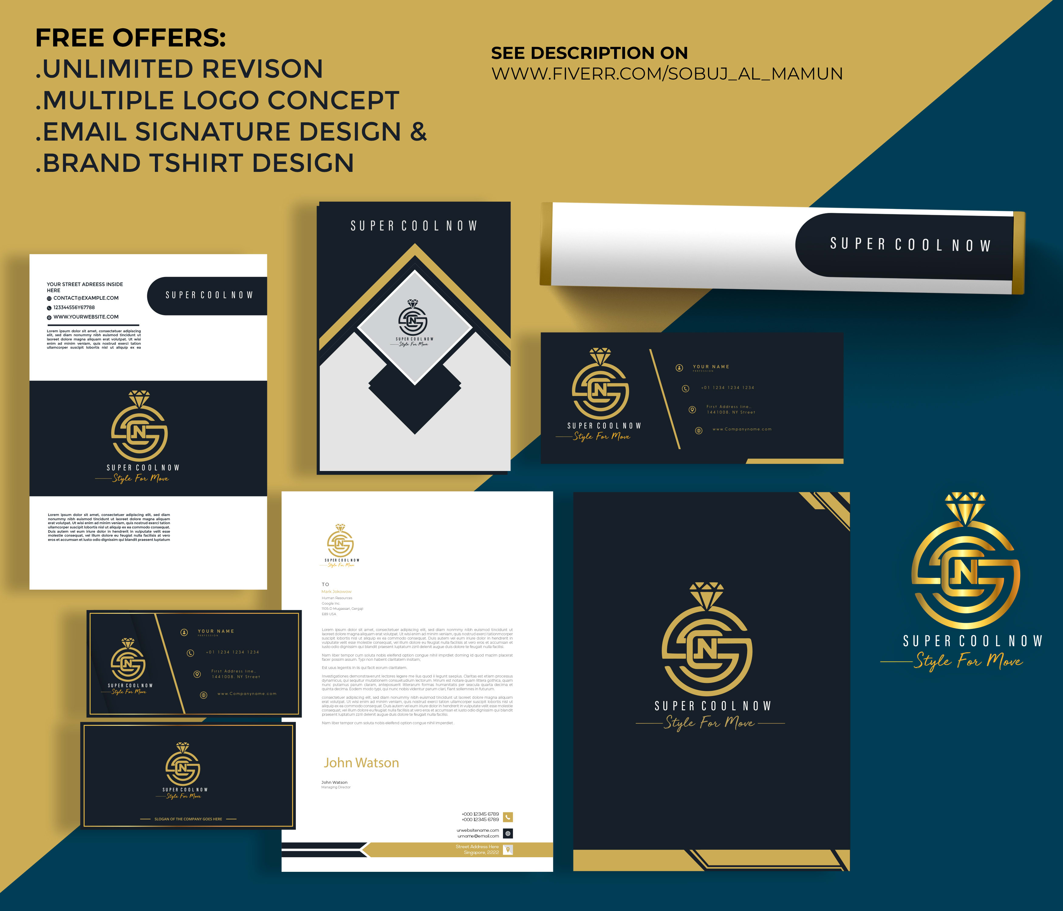 I will design amazing logo and branding package for your business