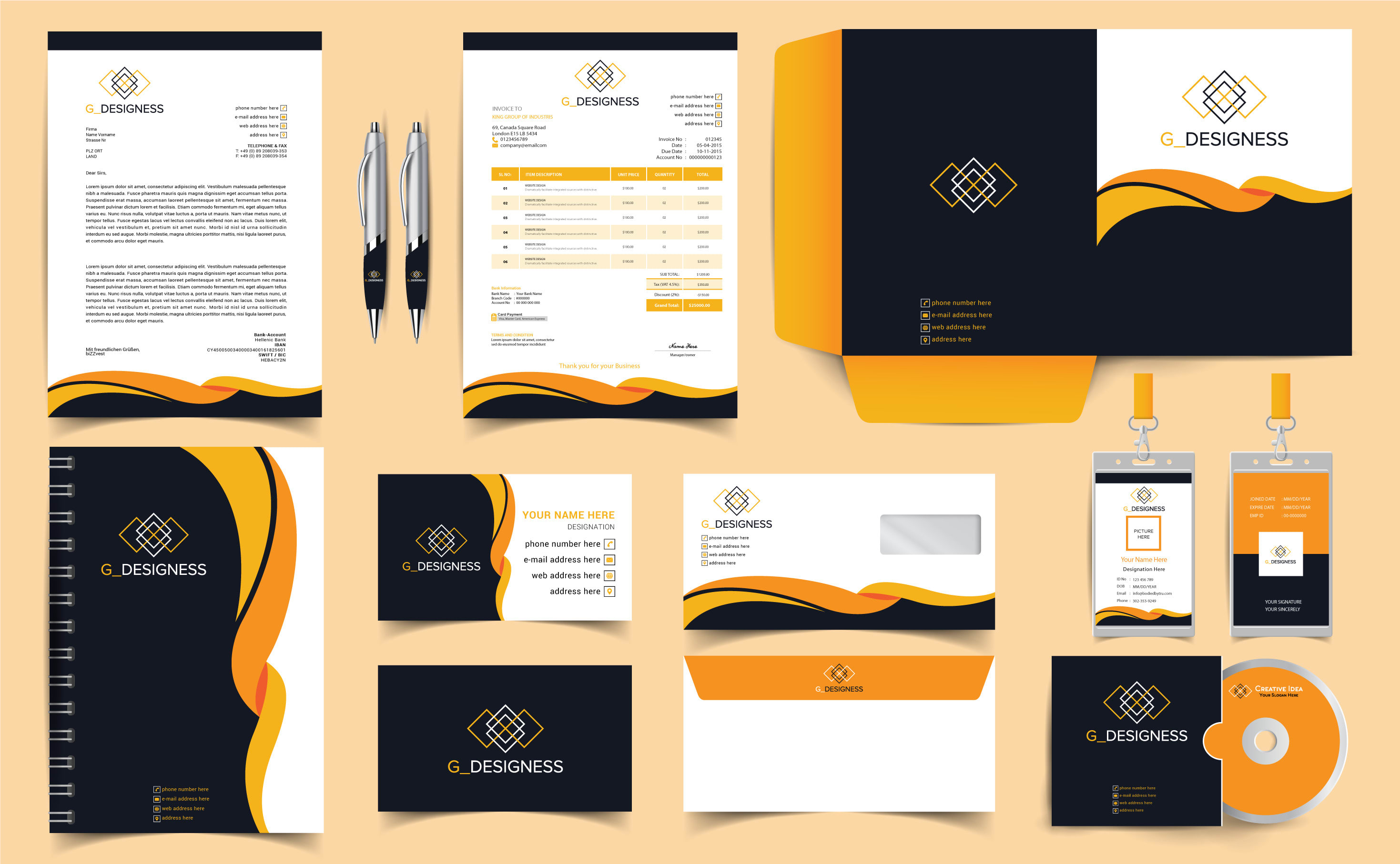 I will do inspiring and artistic stationery design