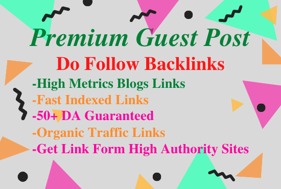 Write and Publish 5 Guest posts on High Metrics unique blogs,  skyrocket your Website back links