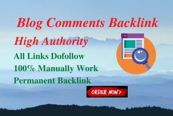 60 High Authority Blog Comments Back Links On High DA-PA