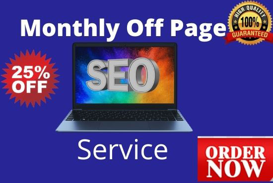 Monthly Off Page Seo Service for 3 Keywords Guaranteed Google First page ranking