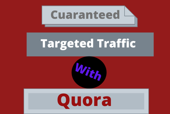 Curanteed targeted traffic with 30 quora answer
