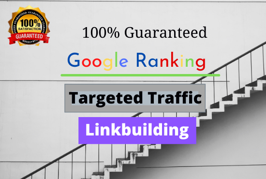 I will Offer Guaranteed Google 1st page ranking and linkbuilding service