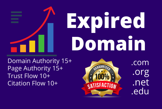 I will provide niche relevant expired domain service with high DA,  PA,  TF,  CF
