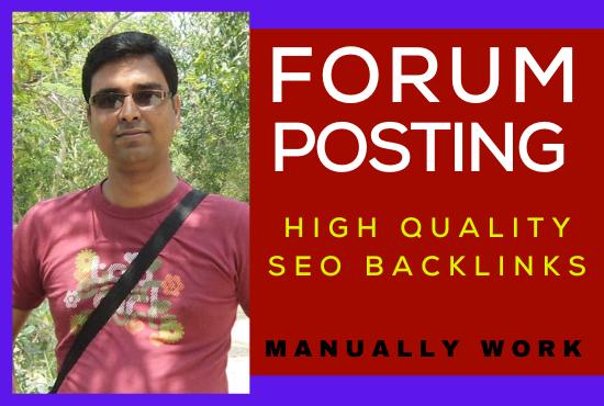 I will Manually create 50 Forum posting SEO Backlinks On High DA/PA