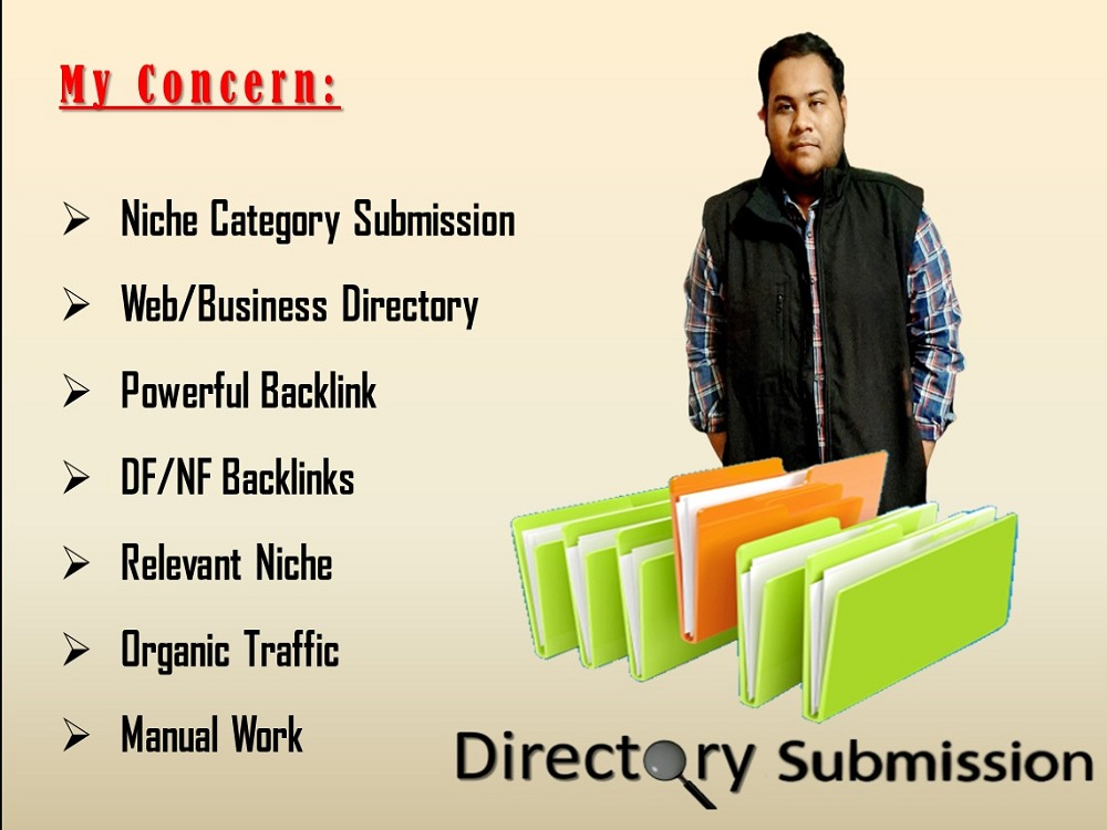 Provide 100 HQ PA/DA Niche targeted manual Directory Submission
