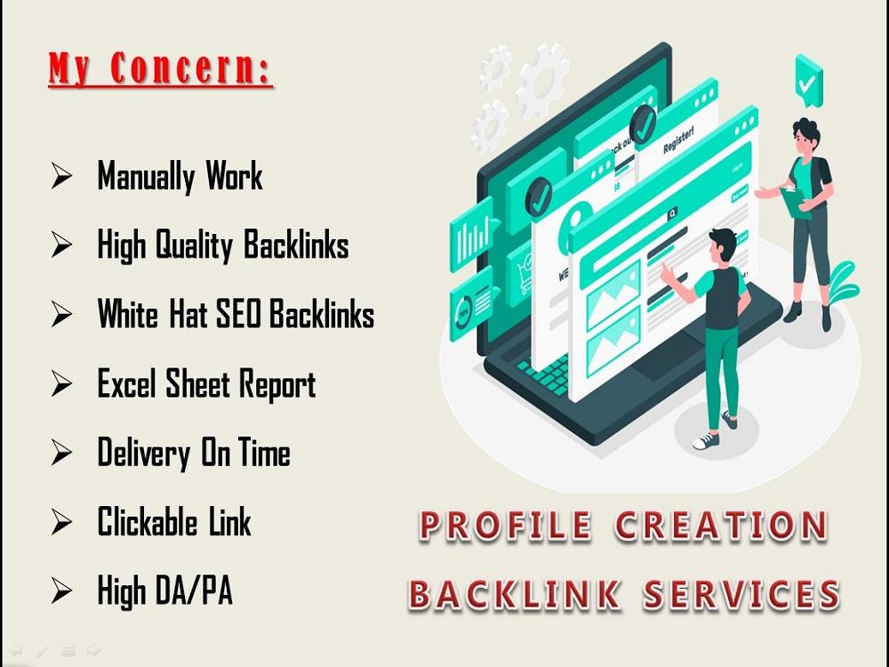 Provide 50 high quality profile creation backlinks