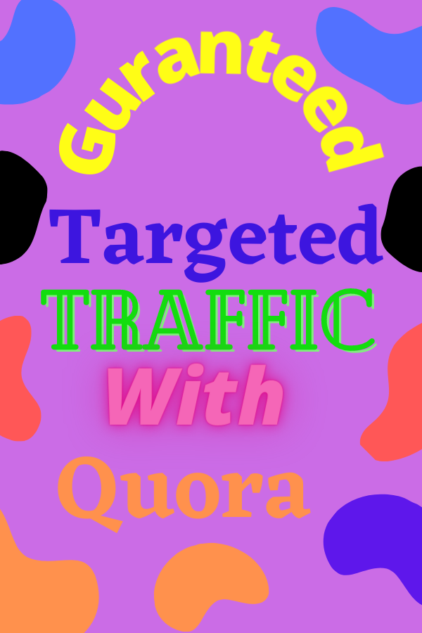 Guranteed targeted traffic 0ffer with 30 Quora answer