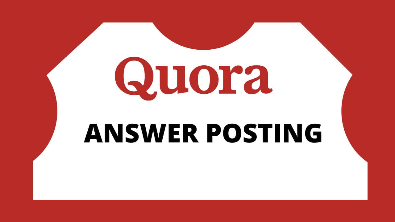 I will do 10 high quality quora answers for your website