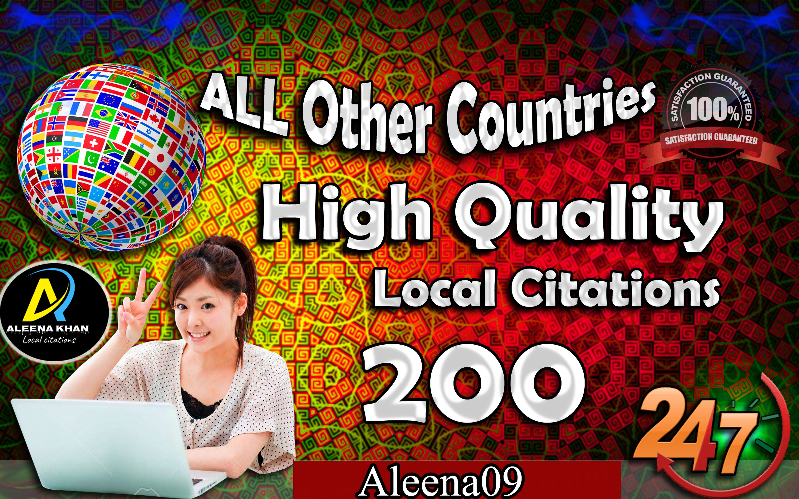 I will create 200 local citations for all other countries