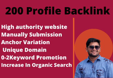 Manually Create 200 profile backlinks to rank your website