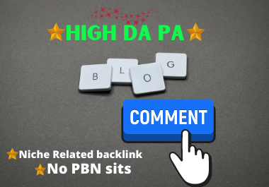 Manually Create 200 Blog Comment Backlink To boost your website