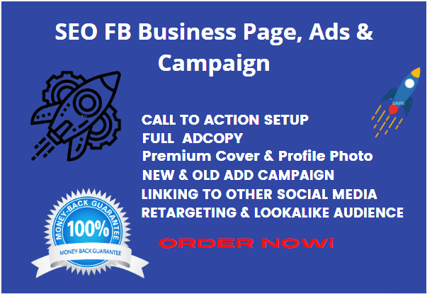 SEO Optimized FB Business Page,  Ads & Campaign