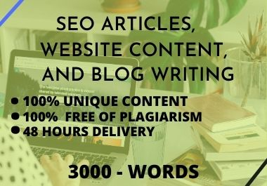 I will do SEO article writing,  website content,  or blog writing