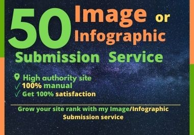 I will do infographic or image submission high pr 50 photo sharing sites