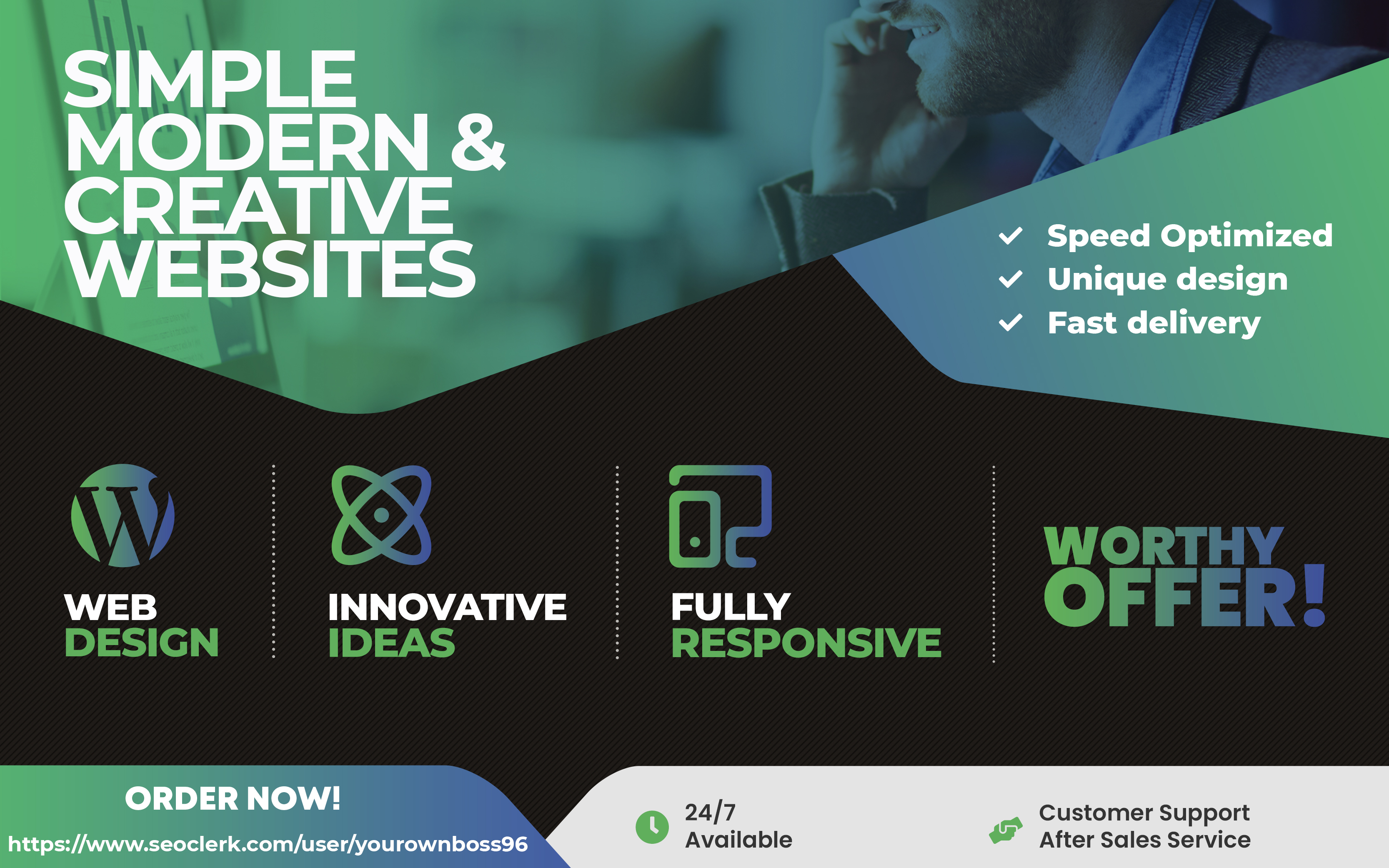 Web design and develop stunning WordPress websites