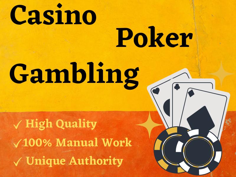 I will do Casino poker SEO Premium 100 High Quality web 2.0 SEO backlinks for google top ranking
