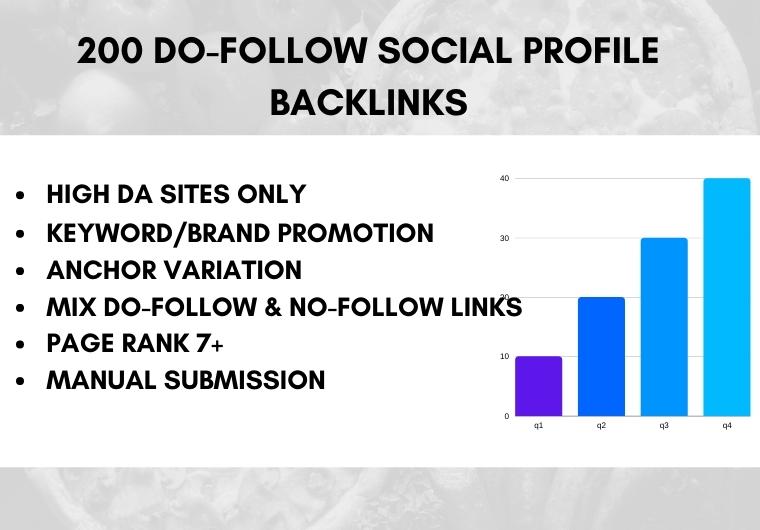I will create 200 High Authority do-follow Profile Backlinks