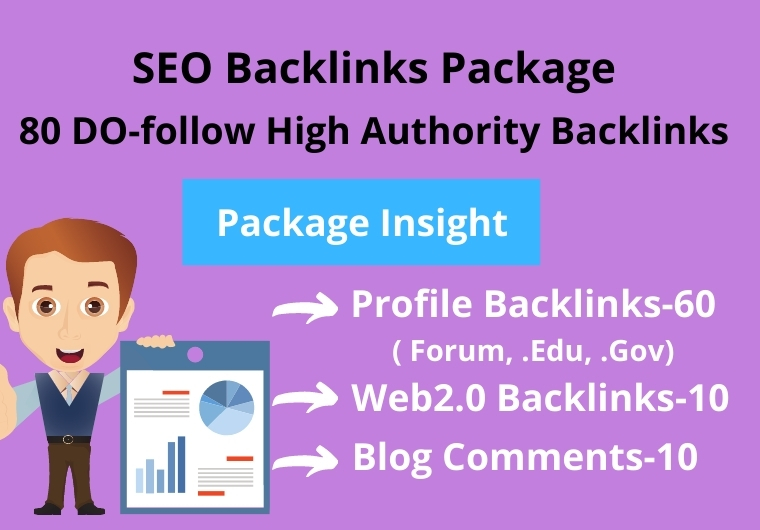 80 DO-follow High Authority combo package of SEO BACKLINKS
