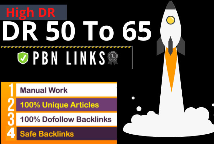 Do high DR 50 to 65 dofollow backlinks SEO manual linkbuilding