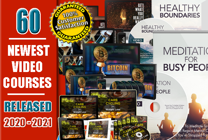 60 High Quality Latest Video Courses Released 2020 - 2021 With Master Resell Rights