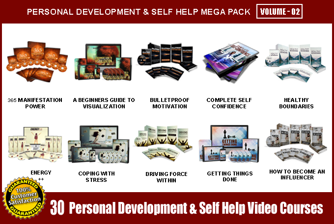 Offer 30 Personal Development & Self Help Video Course Pack - V2 with Full Resell Rights