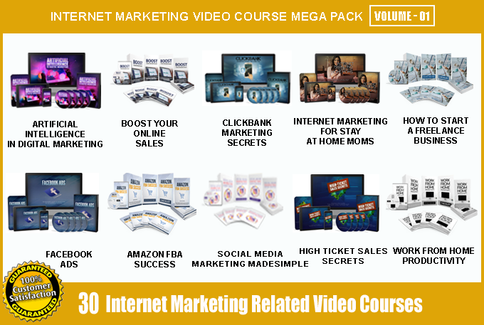 Offer 30 Internet Marketing Video Course Mega Pack - V1 with Master Resell Rights