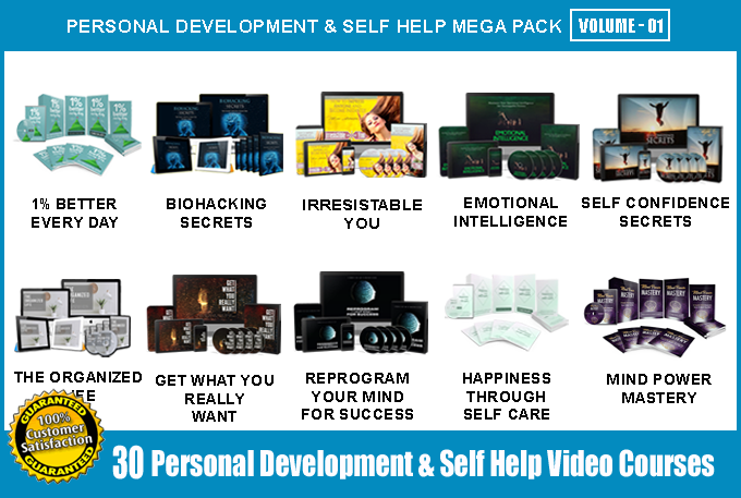 Offer 30 Personal Development & Self Help Video Course Pack - V1 with Full Resell Rights