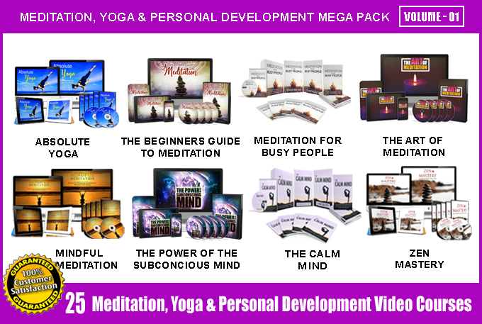 Offer 25 Meditation,  Yoga,  P. Development Video Course Pack - V1 with Full Resell Rights
