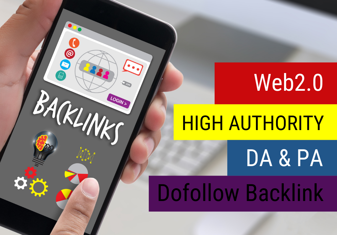 I will provide 10 High Authority DA PA Web2.0 Backlinks to generate huge web traffic