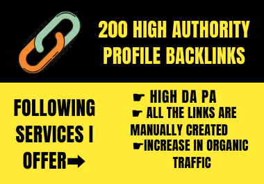 I Will Build a 200 Social Profile Backlinks