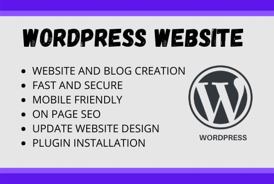 I will create a responsive and amazing wordpress website