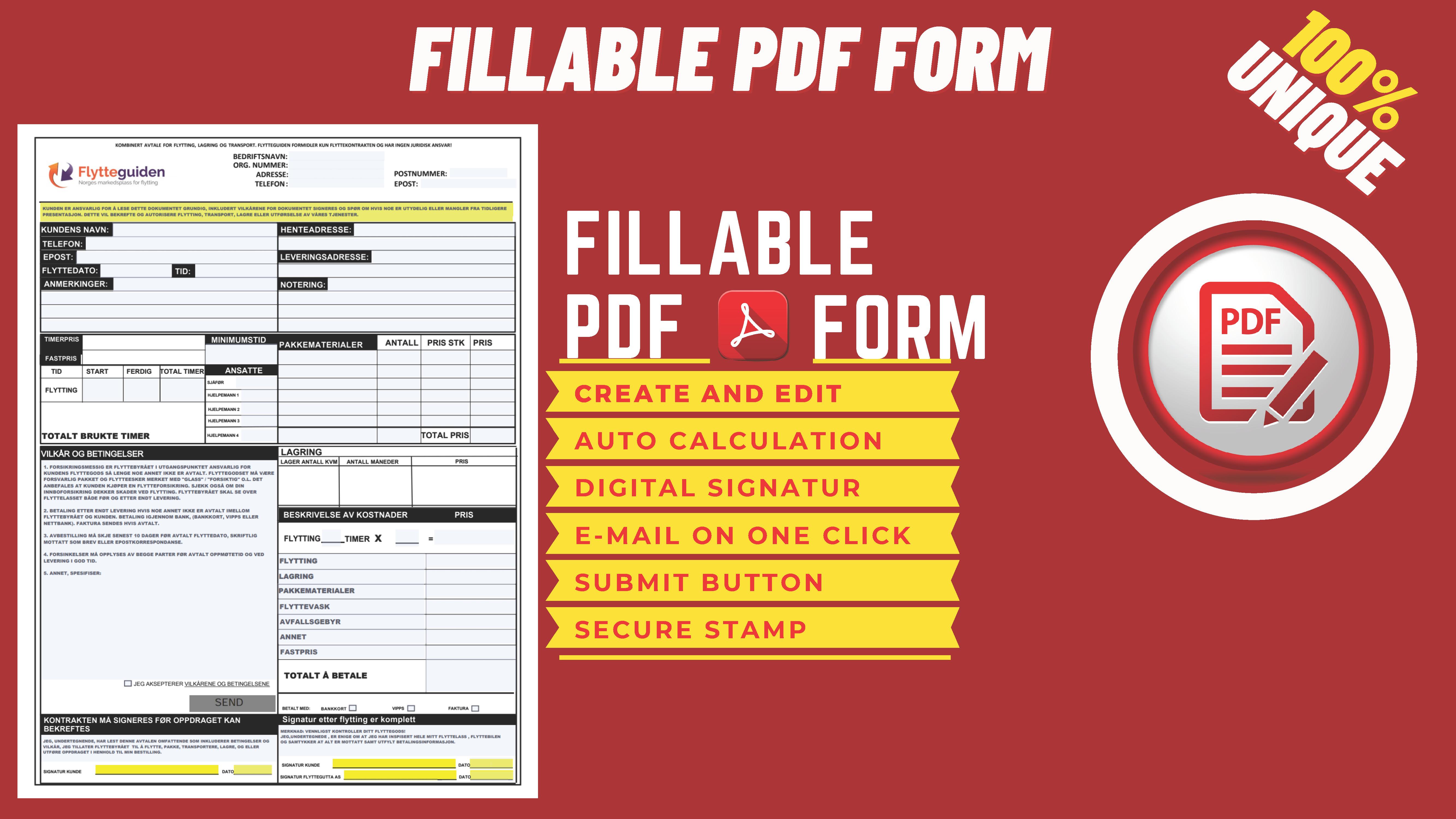 i will design and create unique interactive fillable pdf forms