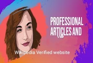 Publish News on a verified Wikipedia News Website