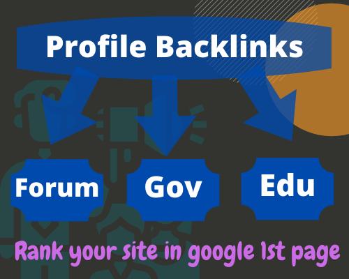 Build 60 HQ Forum,Gov & Edu Mixed Social Profile Backlinks