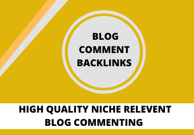 I Will Create 50 High Quality Blog Comment Backlinks